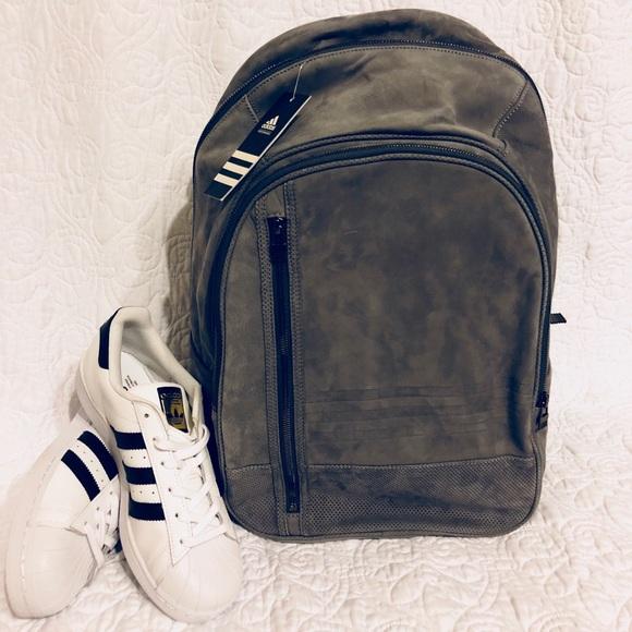 03cf359ae8fa Super Rare Leather Backpack. NWT. adidas